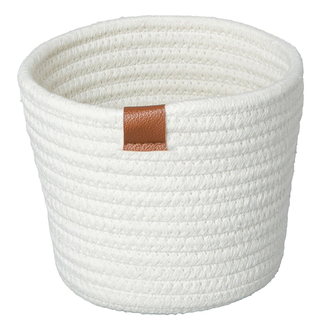 Planter, Cotton Rope, White, w/ Liner, Large - Floral Acres Greenhouse & Garden Centre