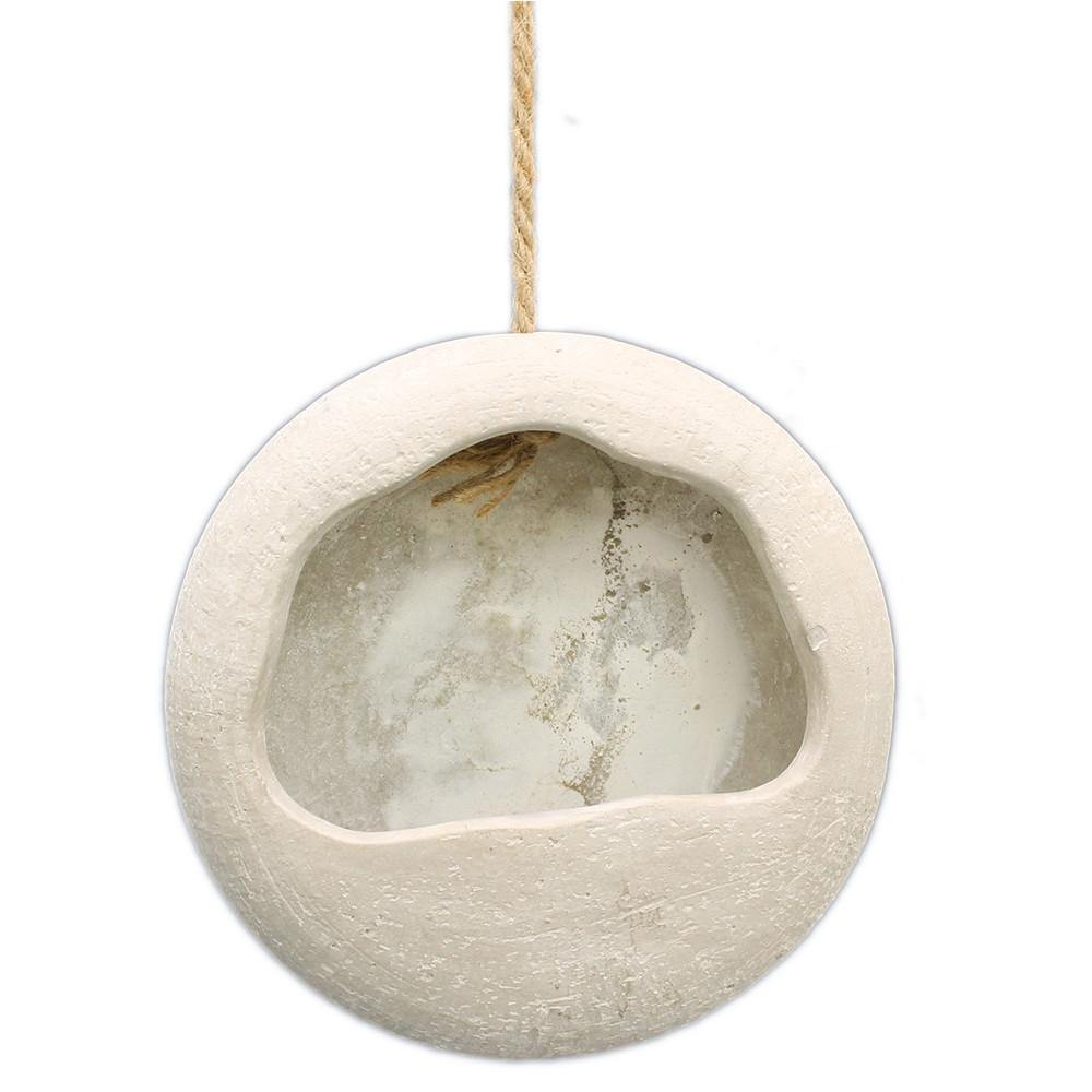 Vase, 6in, Cement, Grace Circle Hanging - Floral Acres Greenhouse & Garden Centre