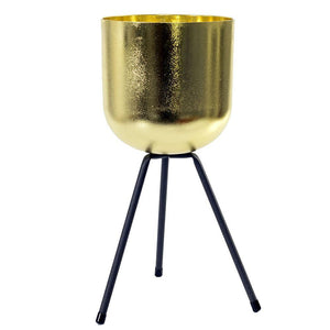 Pot, 6in, Metal, Gold Plant Stand w Legs - Floral Acres Greenhouse & Garden Centre