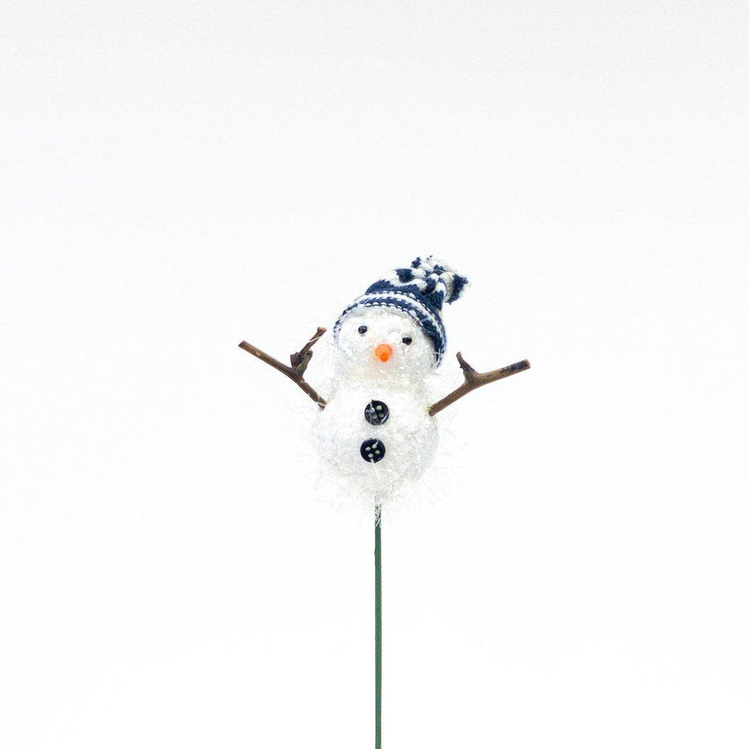Plant Pick, Christmas, Snowman, 3.5in