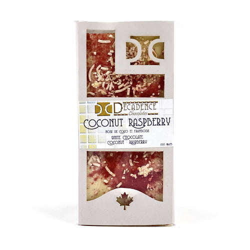 White/Mixed Chocolate Bar, Coconut Raspberry, 100g - Floral Acres Greenhouse & Garden Centre