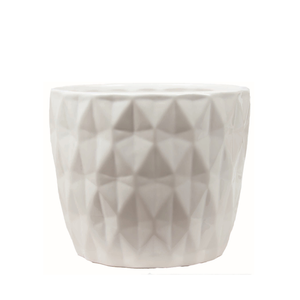 Pot, 6in, Ceramic, Dolomite, Summerhill White