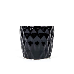 Pot, 4in, Ceramic, Dolomite, Summerhill Black - Floral Acres Greenhouse & Garden Centre