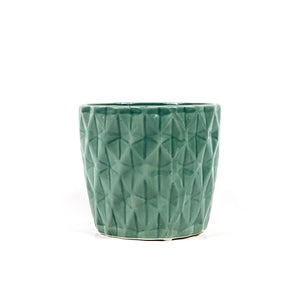 Pot, 4in, Ceramic, Dolomite, Summerhill Teal Blue - Floral Acres Greenhouse & Garden Centre