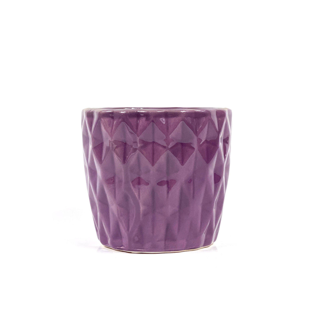 Pot, 4in, Ceramic, Dolomite, Summerhill Purple - Floral Acres Greenhouse & Garden Centre