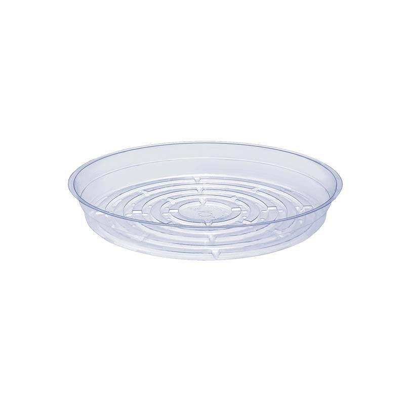 Saucer, 10in, Plastic, Clear Round Vinyl - Floral Acres Greenhouse & Garden Centre