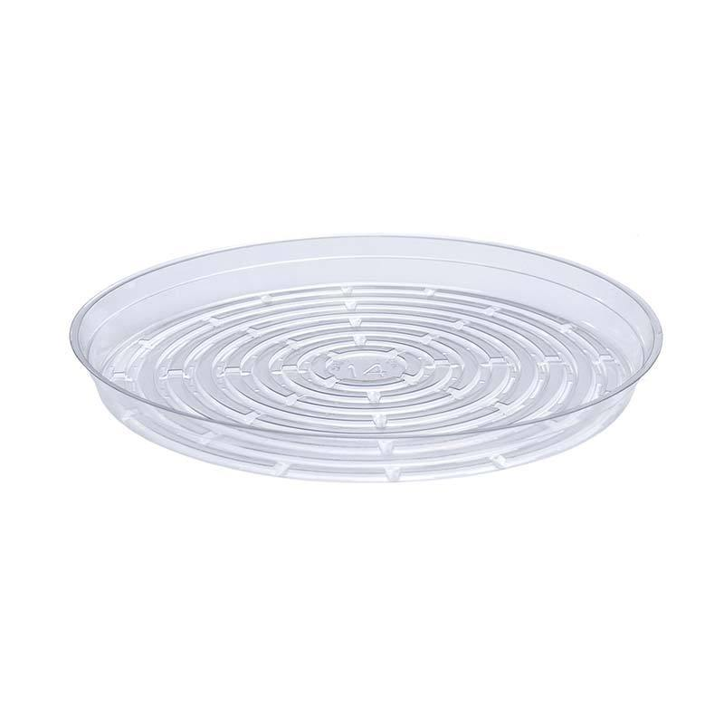 Saucer, 14in, Plastic, Clear Round Vinyl - Floral Acres Greenhouse & Garden Centre