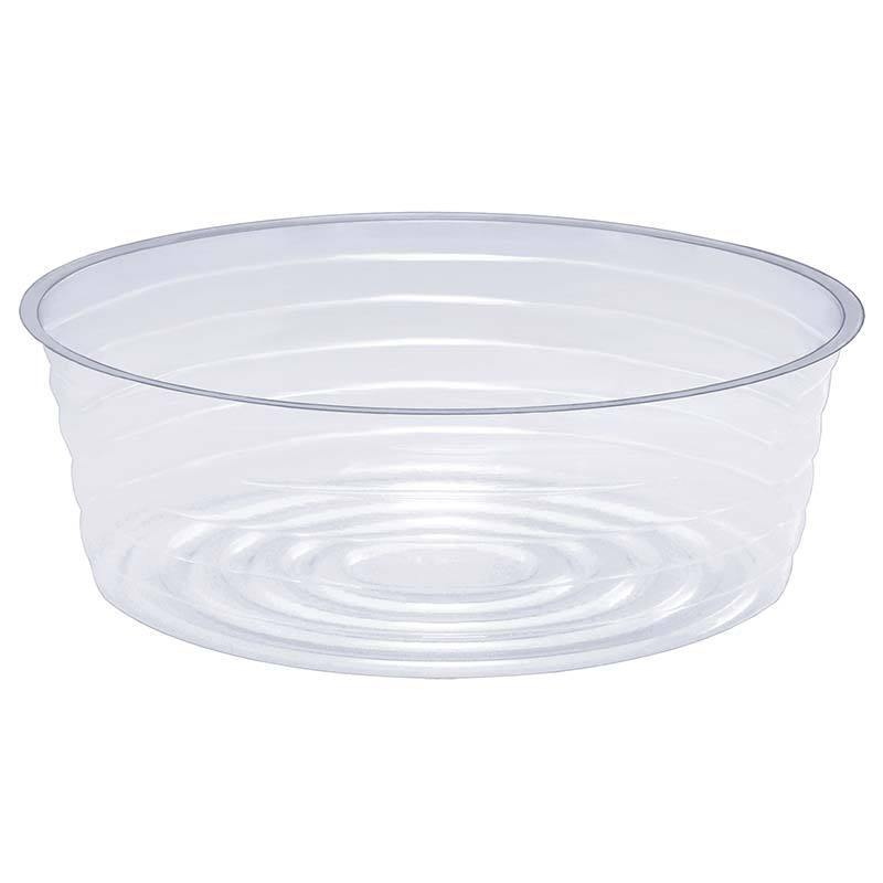 Saucer, 8in, Plastic, Clear Round Deep Liner - Floral Acres Greenhouse & Garden Centre