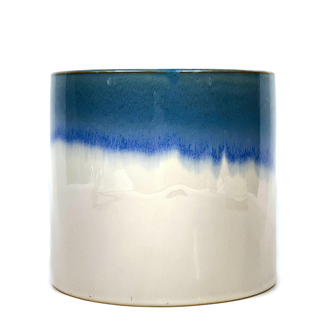 Pot, 6in, Ceramic, Reykjavik Reactive Glaze Blue - Floral Acres Greenhouse & Garden Centre