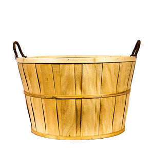 Planter, 16in, Bushel Basket w/ Handles, w Liner - Floral Acres Greenhouse & Garden Centre
