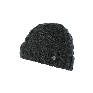 Ladies Beanie, Aria, Charcoal, One-Size