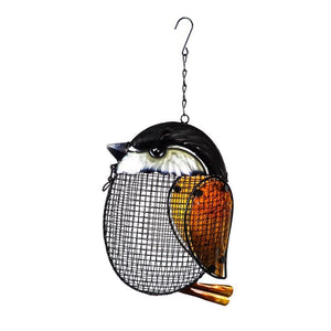 Chickadee-Shaped Mesh Hanging Bird Feeder - Floral Acres Greenhouse & Garden Centre