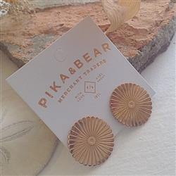 Earrings, Stud, Jardin Deco Circle Fan, Rose Gold
