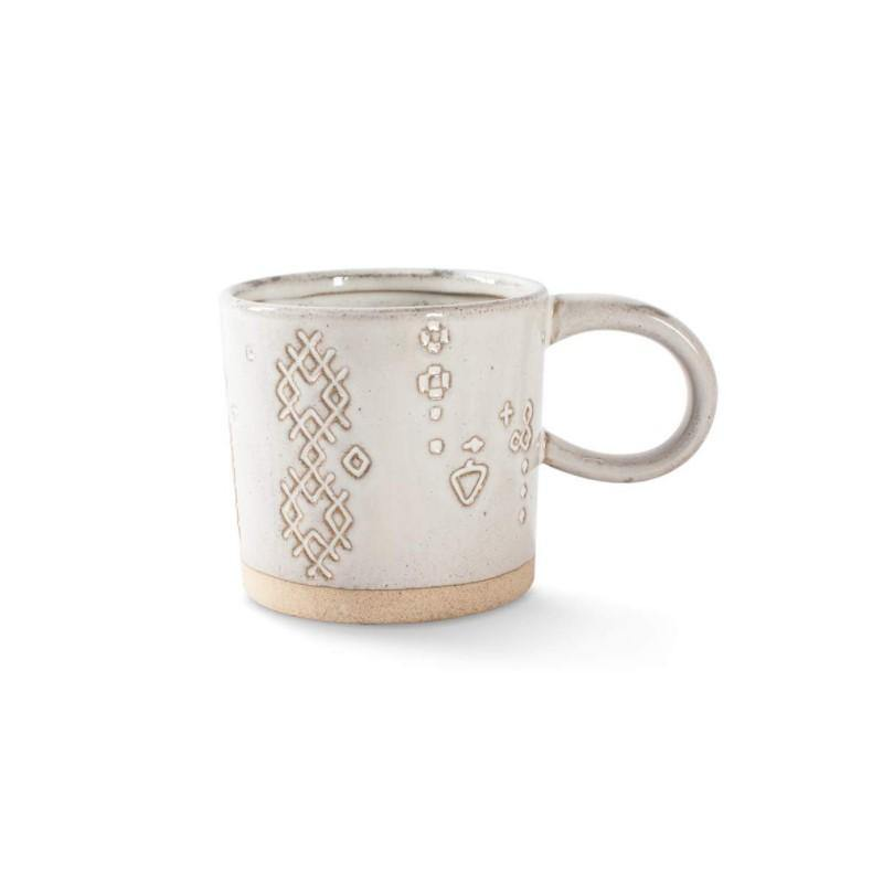 Stoneware Mug, Artisan White, 3.75in x 3.5in - Floral Acres Greenhouse & Garden Centre