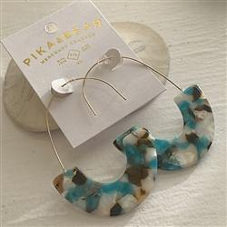 Earrings, Drop, Ilhan Statement, Ocean - Floral Acres Greenhouse & Garden Centre