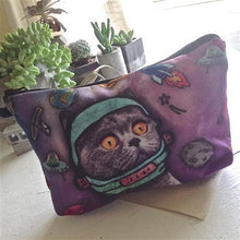 Load image into Gallery viewer, Cosmetic Bag, Touche, Space Oddity Print - Floral Acres Greenhouse & Garden Centre