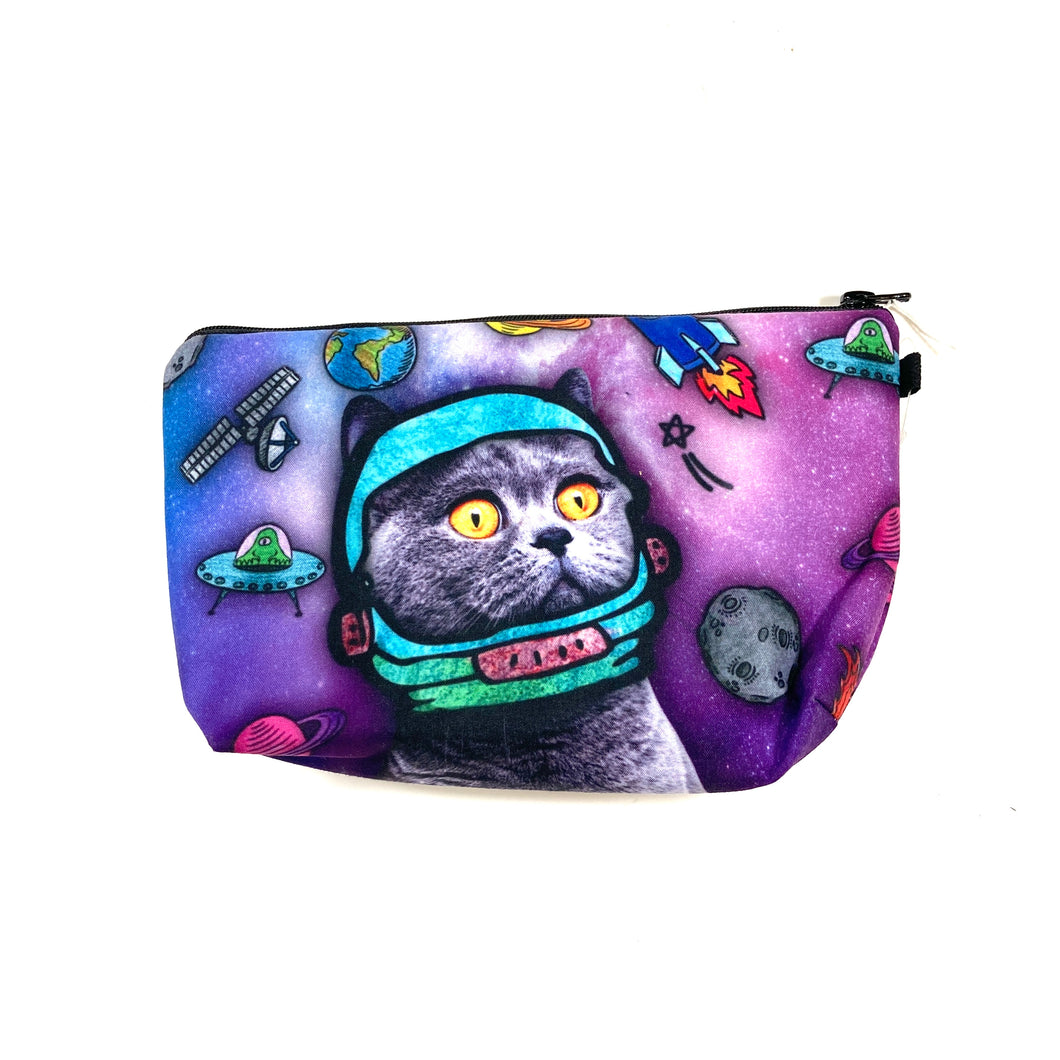 Cosmetic Bag, Touche, Space Oddity Print