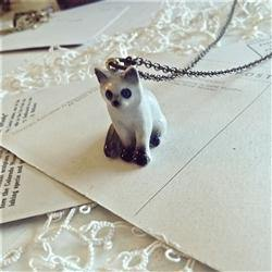 Necklace, Akela Porcelain Kitten Pendant - Floral Acres Greenhouse & Garden Centre
