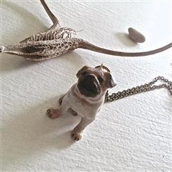 Necklace, Pug Life Porcelain Pug Pendant - Floral Acres Greenhouse & Garden Centre