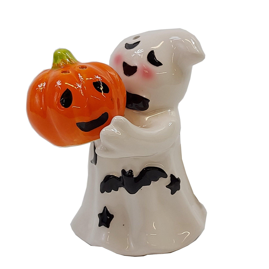 Ghost and Jack-O-Lantern Salt & Pepper Shakers