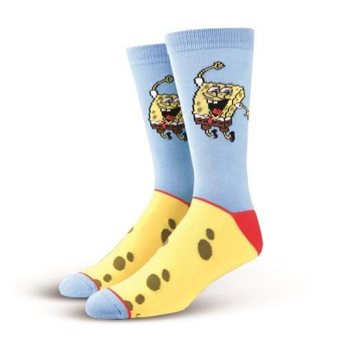 Men's Straight Knit Crew Socks, 6-13, Spongebob - Floral Acres Greenhouse & Garden Centre