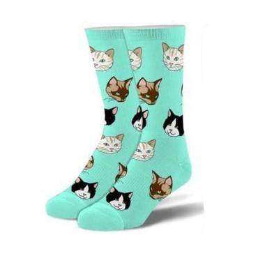 Kid's Folded Crew Socks, 4-7, Cats - Floral Acres Greenhouse & Garden Centre