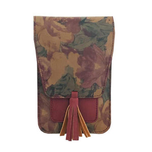 Crossbody 'Harper' Bag, Red Floral - Floral Acres Greenhouse & Garden Centre