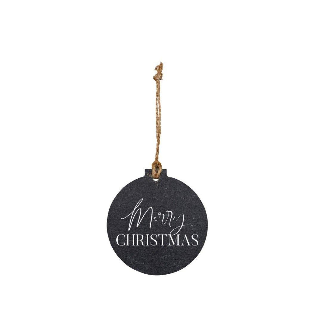 Ball Ornament, 3.25inx3.5in, 'Merry Christmas'