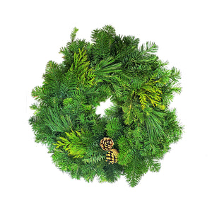 Mixed Wreaths w/ Cones, 10in - Floral Acres Greenhouse & Garden Centre