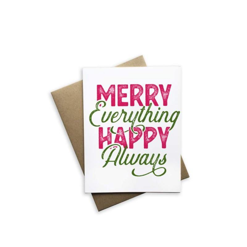 Holiday Card, 'Merry Everything Happy Always'