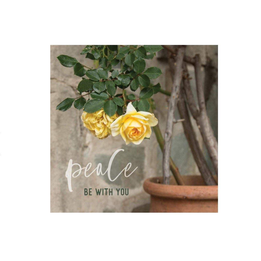 Mini Card, 'Peace Be With You' Roses - Floral Acres Greenhouse & Garden Centre