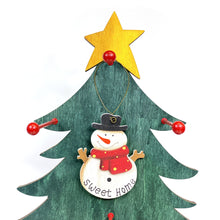Load image into Gallery viewer, Ornament, Fir Wood w/ Holiday Sentiment, 3.5in