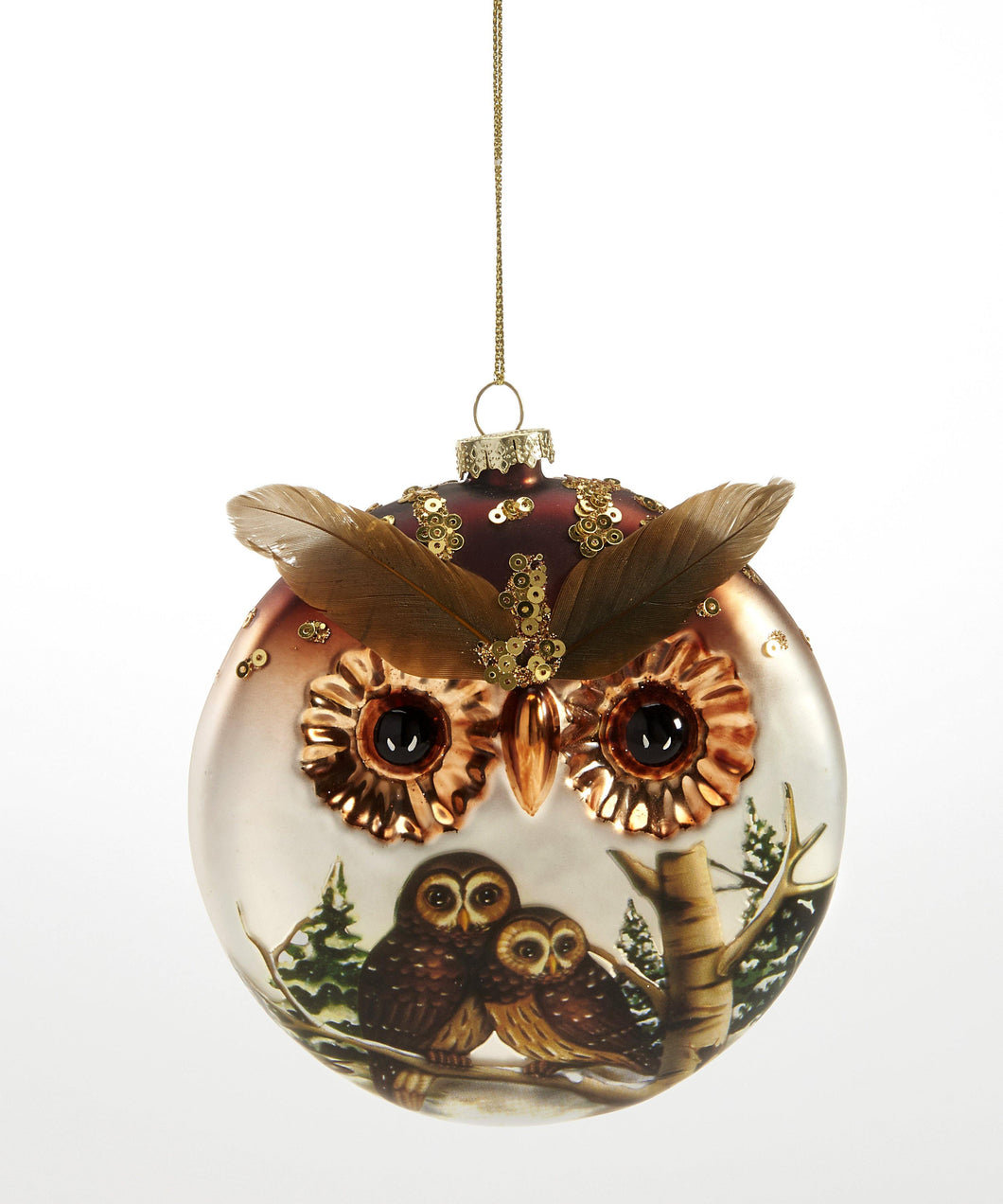 Glass Ornament, Owl Face