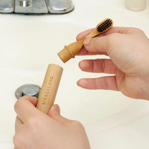 Toothbrush, Bamboo, On-the-Go