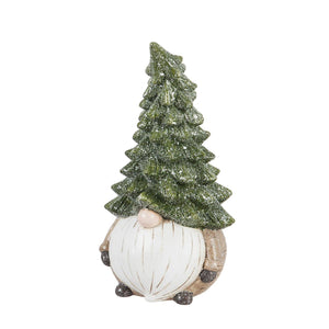 Statuary, Ceramic, Evergreen Gnome, 15.5in