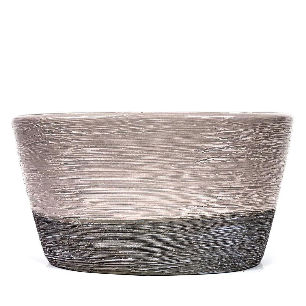 Planter, 8in x 4.5in, Dolomite, Beige and Grey