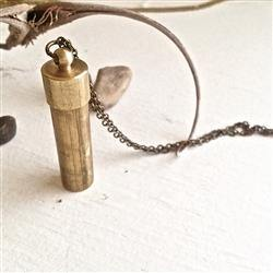 Necklace, Capsule Brass Canister - Floral Acres Greenhouse & Garden Centre