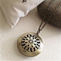 Necklace, Gladys Antique Brass Locket - Floral Acres Greenhouse & Garden Centre