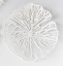 Round Paper & Metal Wall Decor, White, 20in - Floral Acres Greenhouse & Garden Centre