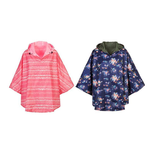 Rain Poncho, Reversible, 2 Ast. Colours - Floral Acres Greenhouse & Garden Centre