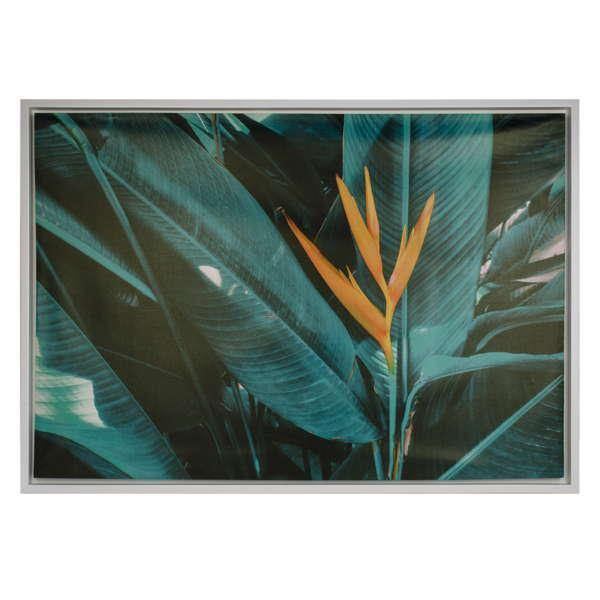 Canvas Wall Art, 28in x 39.5in, Turquoise Foliage - Floral Acres Greenhouse & Garden Centre