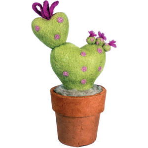 Ornamental Handcrafted  Felt Love Cactus, Large - Floral Acres Greenhouse & Garden Centre