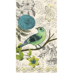 Napkins, Guest Towel, Alluring Aviary, 15ct - Floral Acres Greenhouse & Garden Centre