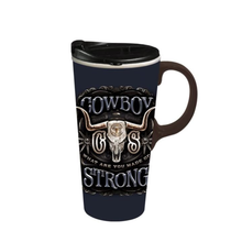 Load image into Gallery viewer, Travel Cup, 17oz, Cowboy Strong