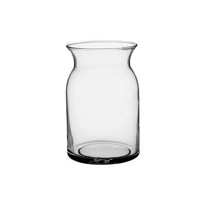 Milk Jug Vase, Clear Glass, 8in Tall - Floral Acres Greenhouse & Garden Centre
