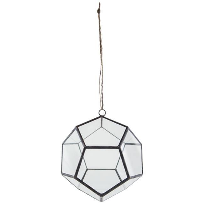 Vase, 6in, Glass, Dodecahedron Hanging Terrarium - Floral Acres Greenhouse & Garden Centre