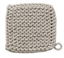 Load image into Gallery viewer, Crocheted Cotton Square Pot Holder, 8in, Asst. - Floral Acres Greenhouse & Garden Centre