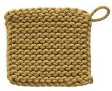 Load image into Gallery viewer, Crocheted Cotton Square Pot Holder, 8in, Asst.