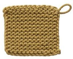 Crocheted Cotton Square Pot Holder, 8in, Asst.