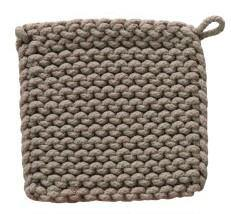 Crocheted Cotton Square Pot Holder, 8in, Asst. - Floral Acres Greenhouse & Garden Centre